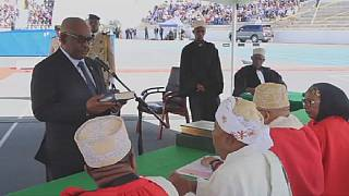 Comoros swears in president after controversial elections
