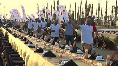 Égypte : record du monde pour le grand banquet du Ramadan