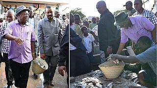 Tanzania president buys fish with basket amid total plastics ban