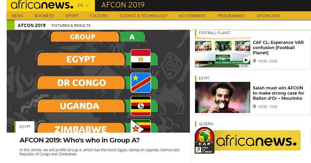 Africanews' AFCON 2019 coverage: On air, online, on ground