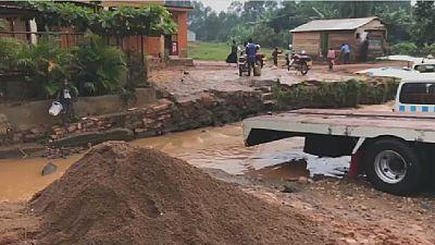 Heavy rains hamper locals, businesses in Ugandan capital Kampala