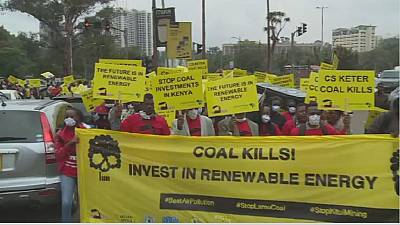 Kenyans protest building of coal-fired power plant