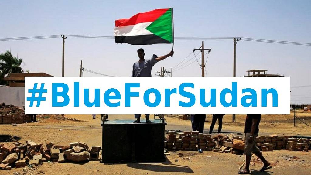 Mandela's 'The Elders,' join #BlueForSudan Twitter campaign