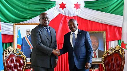 Tshisekedi meets with Nkurunziza