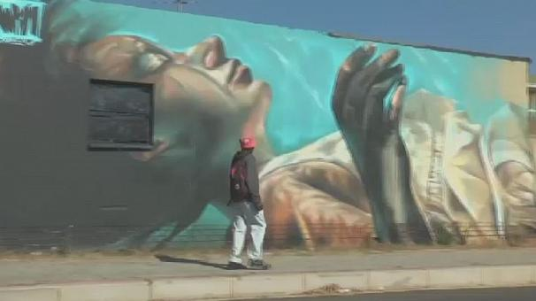 The South African suburb adorned with graffiti