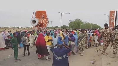 Nigeria: IDPs protest over food shortage