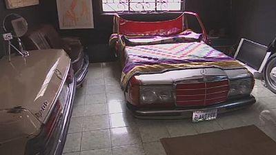 Nigeria : d'anciennes voitures transformées en meubles contemporains