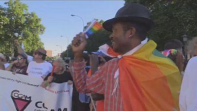 Cameroonian gay man enjoys first pride in Madrid