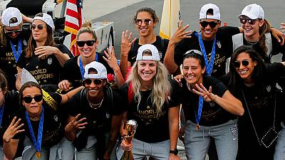 Victorious return for U.S team after Women's World Cup win