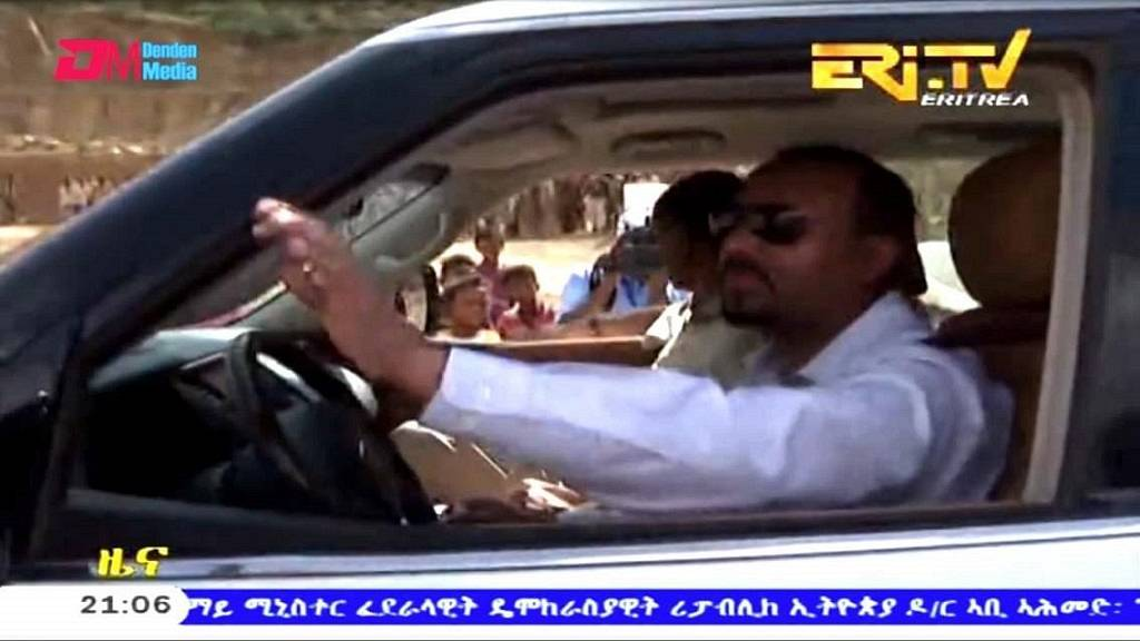 Photo: Ethiopia PM chauffeurs Eritrean president on official visit