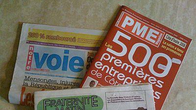 """Côte d'Ivoire : la ''presse sinistrée"""", les journalistes s'insurgent"""