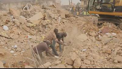 Nigeria: 13 dead in building collapse, rescue underway