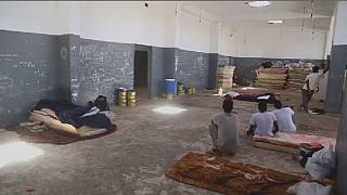 Migrants stranded at a Libyan detention center in hellish conditions
