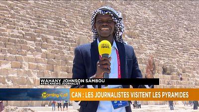 CAN 2019 : les journalistes visitent les pyramides en Egypte
