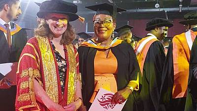 Ghana's ex-First Lady graduates from UK varsity