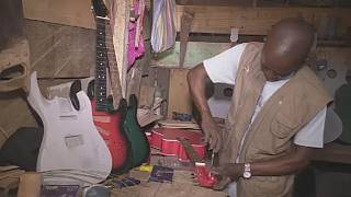 Congolese guitar manufacturer hopes for mass production