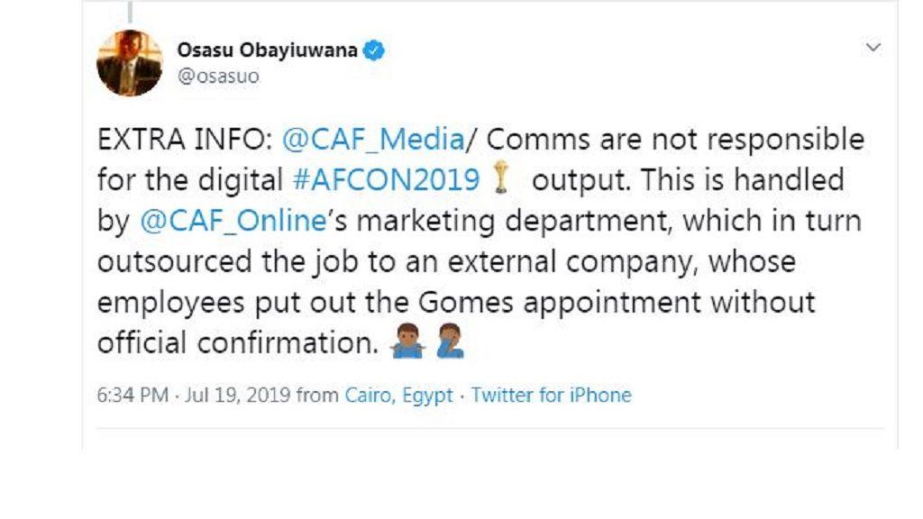 AFCON 2019: CAF deserves medal for social media coverage - Orange