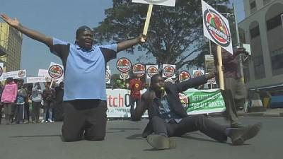 Kenya police tear gas protesters demanding closure of energy company