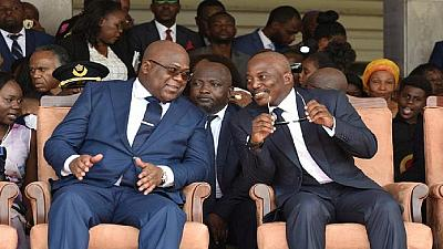 DRC president agrees to split key cabinet posts with Kabila's coalition