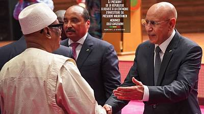 West African leaders 'flood' inauguration of new Mauritania president