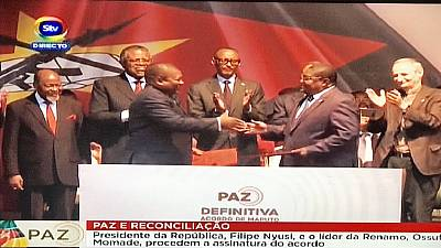 African leaders witness signing of final peace deal in Mozambique