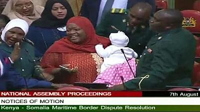 Drama as Lawmaker is kicked out of parliament for coming with baby
