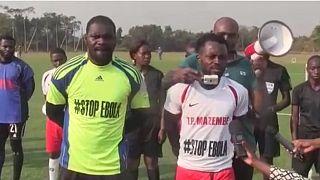 Ebola en RDC : des footballeurs s'engagent dans la prévention à Lubumbashi