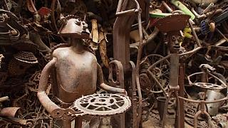 Senegalese sculptor turns discarded bikes into pieces of art