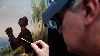 Liverpool museum works to restore rare slavery painting