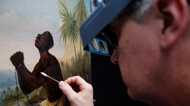 Liverpool museum works to restore rare slavery painting