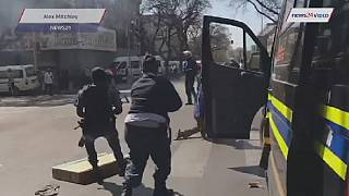 S. African police fire rubber bullets in Pretoria clashes