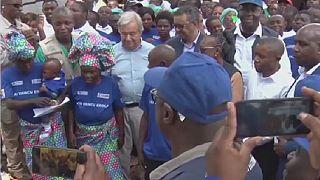 RDC : Ebola au menu de la visite de Guterres