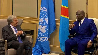 U.N. chief meets DRC president: Ebola, MONUSCO top agenda
