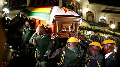 Mugabe's remains received in his Zimbabwe home village