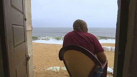 Coastal erosion threatens Ivory Coast village