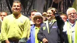 Ecuador's President launches re-election campaign