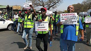 Afrique du Sud : des taximen manifestent contre les attaques xénophobes