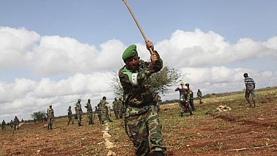 AMISOM soldiers making roads and helping farmers in Somalia