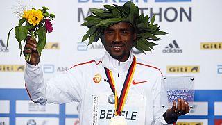 Ethiopia's Bekele wins Berlin Marathon