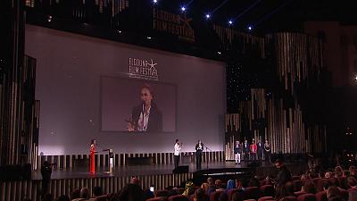 Action man Steven Seagal & actress Hend Sabry attend El Gouna Film Festival