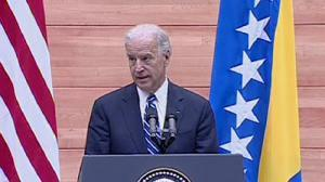 Biden in Bosnia on unity mission