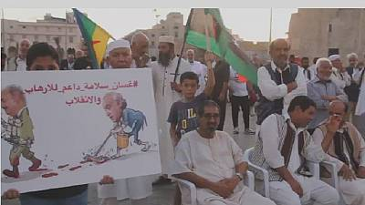 Libyans protest against Haftar