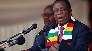 Emmerson Mnangagwa en visite en Ouganda