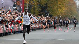 Kenya's Eliud Kipchoge makes history, breaks world marathon record