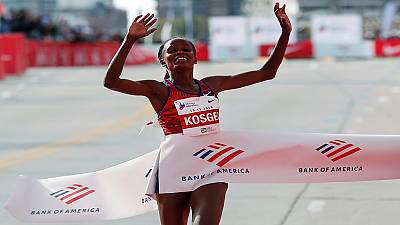 Kenyan Brigid Kosgei breaks women's marathon record set 16 years ago