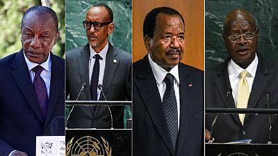 Limitation du mandat présidentiel : ces dirigeants africains qui résistent au pouvoir