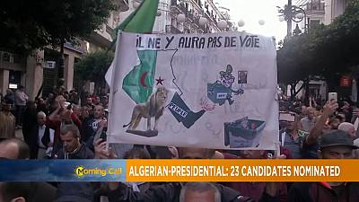 Algeria: 23 candidates for presidential election [Morning call]