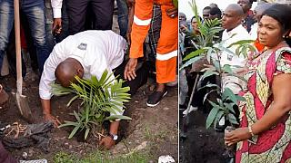 Fayulu launches tree-planting drive to combat DR Congo's forest fires