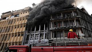Twin fires ravage busy market in Nigeria's commercial capital Lagos