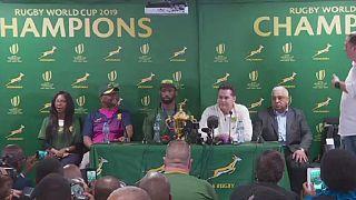 Afrique du Sud : retour triomphal des Springboks